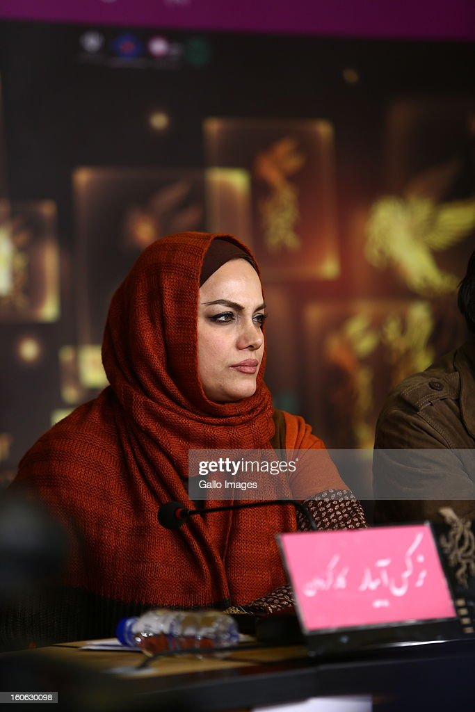 Director Narges Abyr on Day 4 of the 31th International Fajr Film Festival on February 3, 2013 in Tehran, Iran. Organized by the Ministry of Culture and Islamic Guidance, the Film Festival is the most important film event in the country.