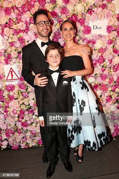 Director Natalie Portman actor Amir Tessler and actor Gilad Kahana attend the 'A Tale of Love and Darkness' Party during the 68th annual Cannes Film...