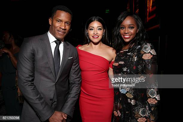 Director Nate Parker recipient of the Breakthrough Director of the Year Award actress Gina Rodriguez recipient of the Female Star of Tomorrow Award...