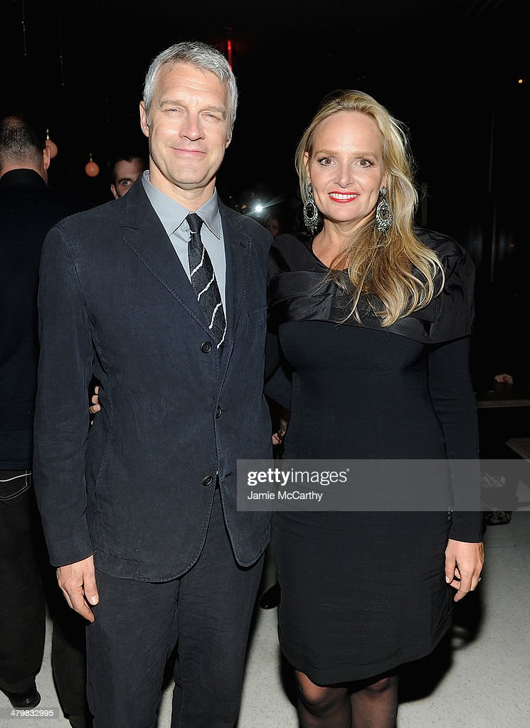 Director Neil Burger and Diane Burger attend the Marie Claire The Cinema Society screening of Summit Entertainment's 'Divergent' after party at The...