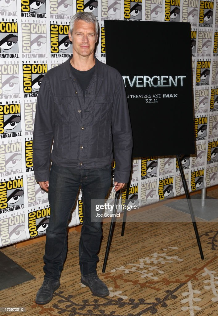 Director Neil Burger attends 'Divergent' Comic-Con Press Line at San Diego Convention Center on July 18, 2013 in San Diego, California.