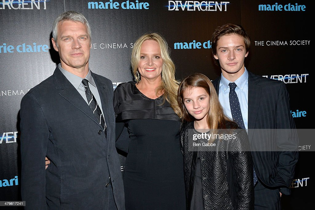 Director Neil Burger Diana Burger Clara Burger and Lucas Burger attend the Marie Claire The Cinema Society screening of Summit Entertainment's...