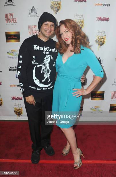 Director Neil D'Monte and actress Lisa Cash arrive for the Premiere Of 'Front Men' And 'Like Them' held at The Downtown Independent on June 15 2017...