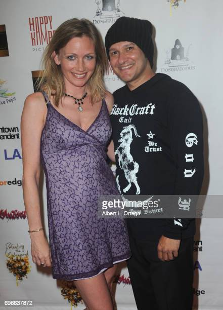 Director Neil D'Monte and Jacqueline Lovell Nyahay arrive for the Premiere Of 'Front Men' And 'Like Them' held at The Downtown Independent on June 15...