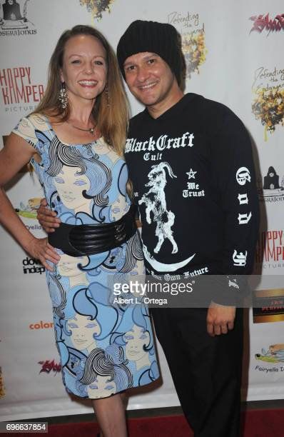 Director Neil D'Monte and Theresa Ireland arrive for the Premiere Of 'Front Men' And 'Like Them' held at The Downtown Independent on June 15 2017 in...
