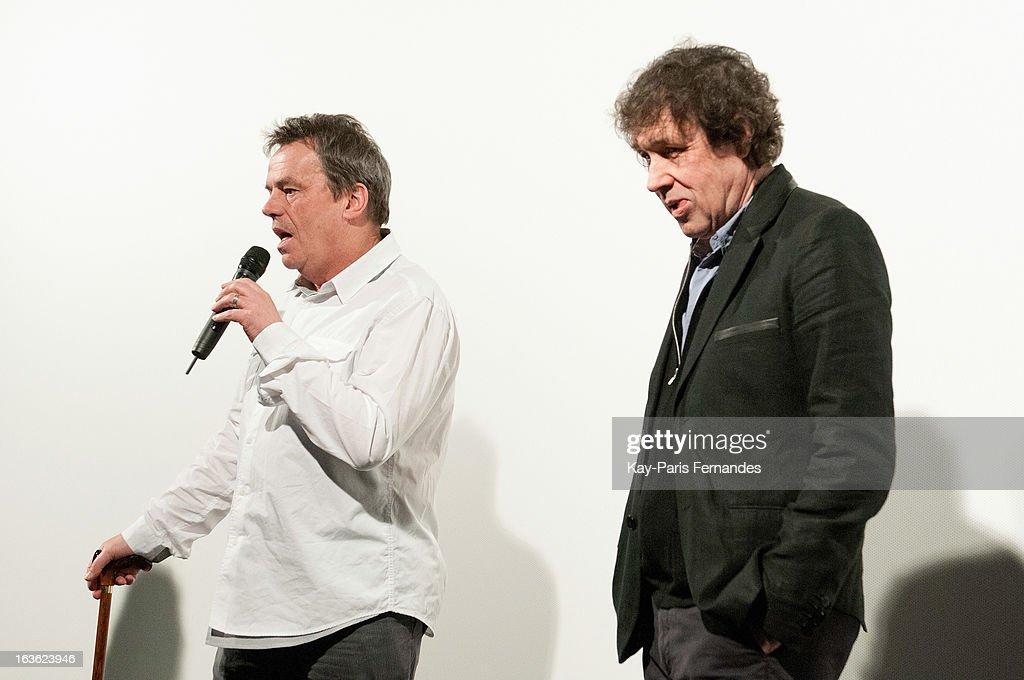 Director Neil Jordon and actor Stephen Rea attend 'L'Europe Autour De L'Europe' Film Festival at L'Entrepot on March 13 2013 in Paris France