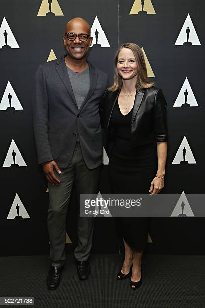 Director New York Programs and Membership Patrick Harrison and actress Jodie Foster attend The Academy Museum presents 25th Anniversary event of...