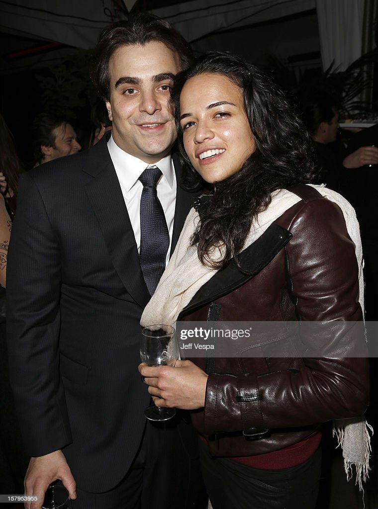 Director Nicholas Jarecki and actress Michelle Rodriguez attends the SILVER LININGS PLAYBOOK Event Hosted By Lexus And Purity Vodka at Chateau Marmont on December 7, 2012 in Los Angeles, California.