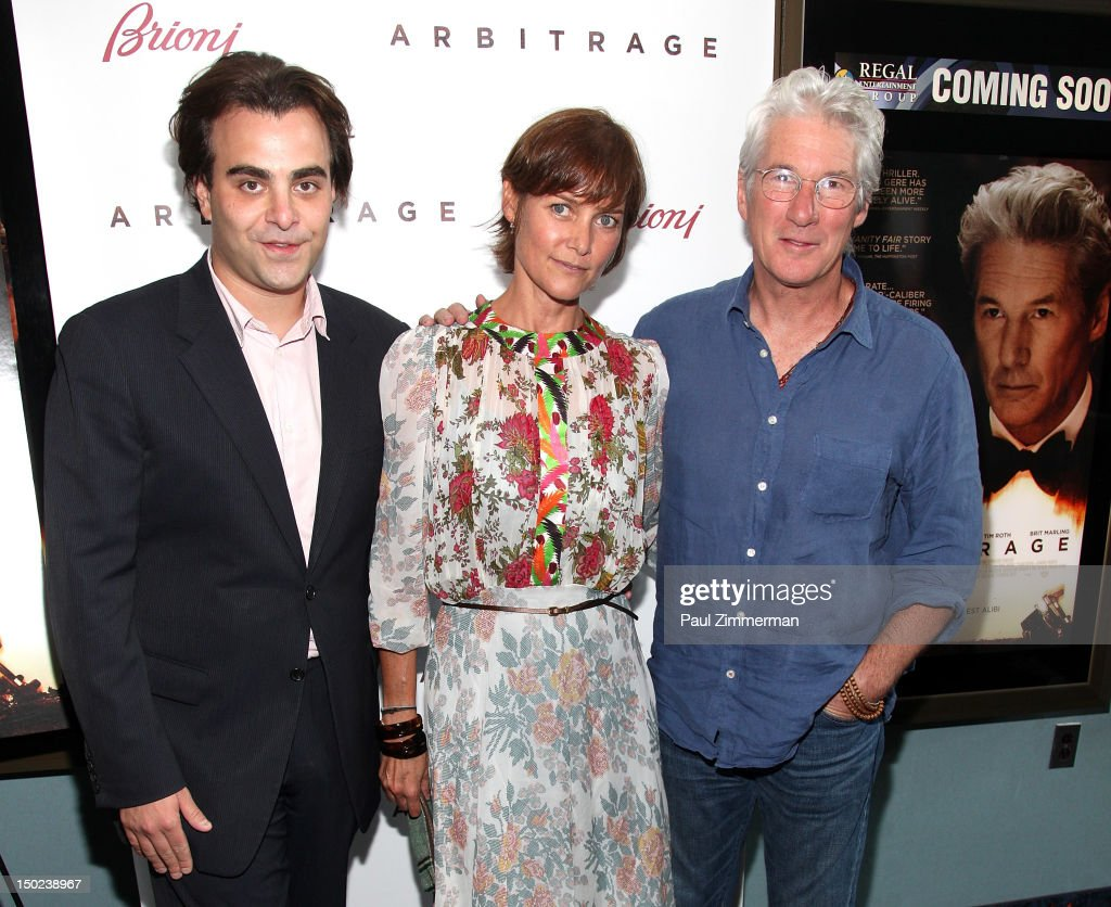 Director Nicholas Jarecki Carrie Lowell and Richard Gere attend 'Arbitrage' screening at UA East Hampton Theater on August 12 2012 in East Hampton...