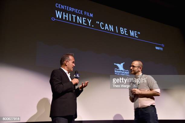 Director Nick Broomfield and Basil Tsiokos attend the 'Whitney Can I Be Me' QA during the 2017 Nantucket Film Festival Day 4 on June 24 2017 in...