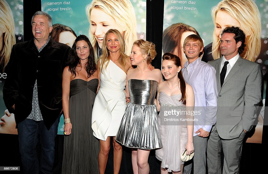 Director Nick Cassavetes, actors Heather Wahlquist, Cameron Diaz, Sofia Vassilieva, Abigail Breslin, Evan Ellinson and Jason Patric attend the premiere of 'My Sister's Keeper' at the AMC Lincoln Square theater on June 24, 2009 in New York City.