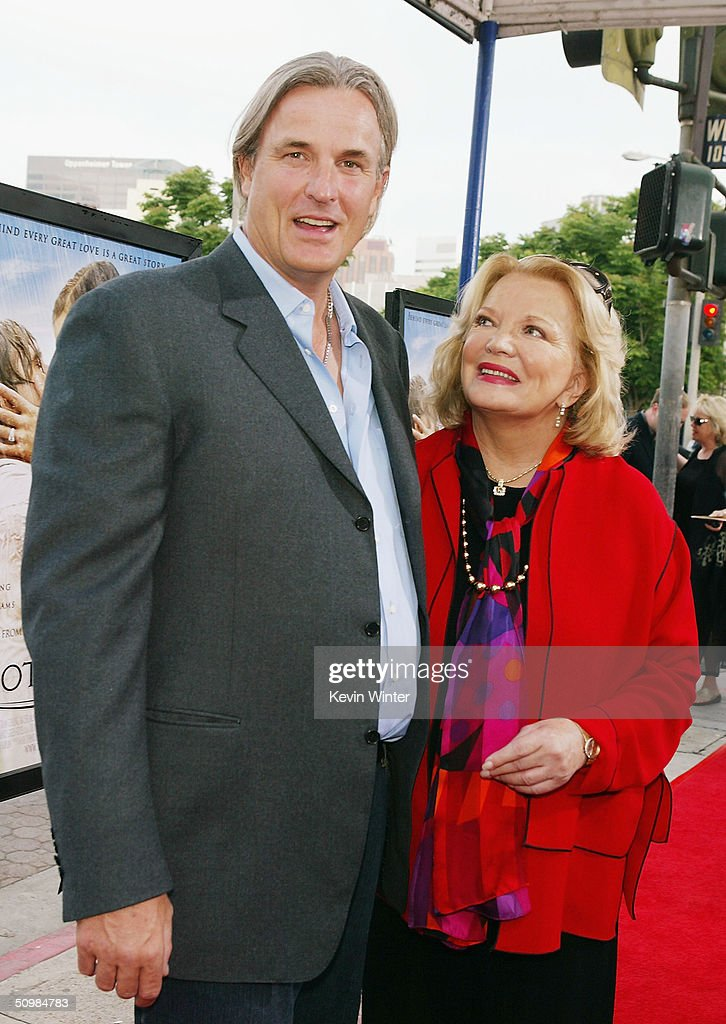 Director Nick Cassavetes (left) and his mother actress Gena Rowlands pose at the premiere of New Lines' 'The Notebook' on June 21, 2004 at the Village Theatre, in Los Angeles, California.
