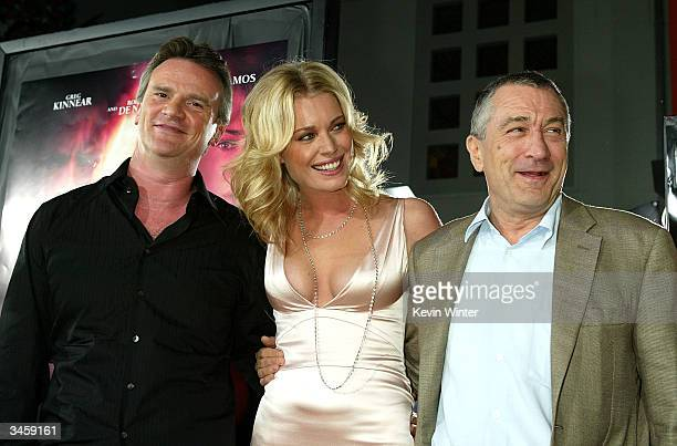 Director Nick Hamm actors Rebecca RomijnStamos and Robert De Niro attend the world premiere of the Lion's Gate film 'Godsend' at the Mann's Chinese...