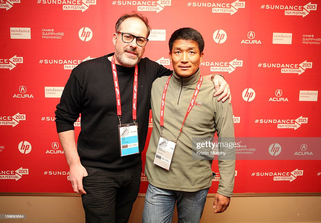 Director Nick Ryan and climber Pemba Gyalje Sherpa attend 'The Summit' Premiere at Egyptian Theatre on January 18, 2013 in Park City, Utah.
