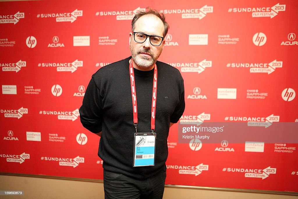 Director Nick Ryan attends 'The Summit' Premiere at Egyptian Theatre on January 18, 2013 in Park City, Utah.