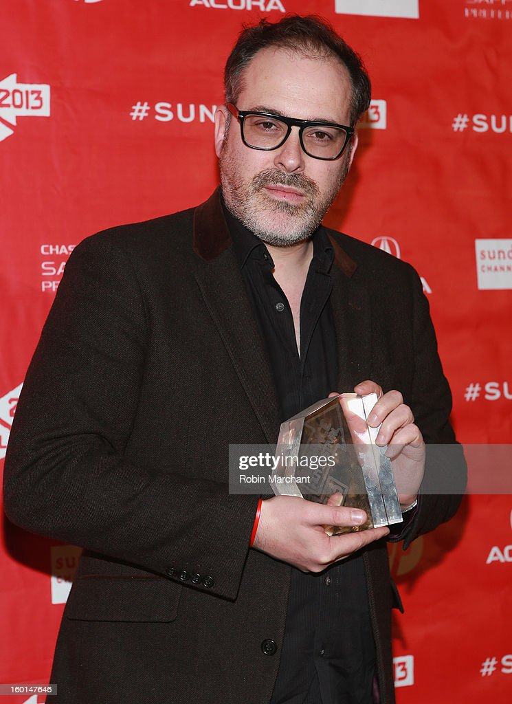 Director Nick Ryan, Winner of the Editing Award: World Cinema Documentary: for The Summit poses with award at the Awards Night Ceremony during the 2013 Sundance Film Festival at Basin Recreation Field House on January 26, 2013 in Park City, Utah.