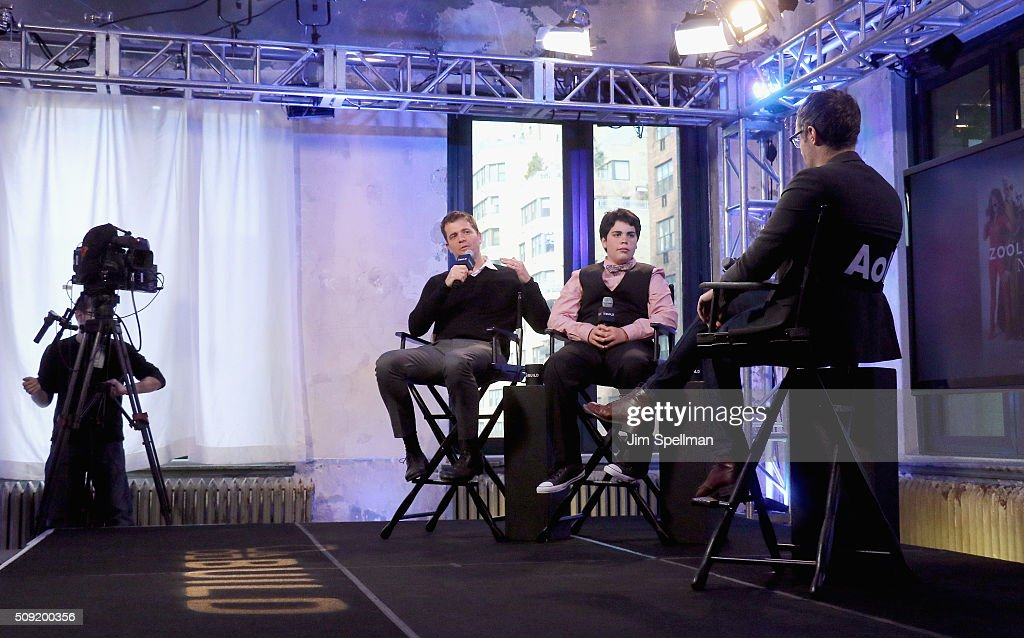 Director Nick Stoller and actor Cyrus Arnold attend the AOL Build Speaker Series - Cyrus Arnold and Nick Stoller, 'Zoolander 2' at AOL Studios In New York on February 9, 2016 in New York City.