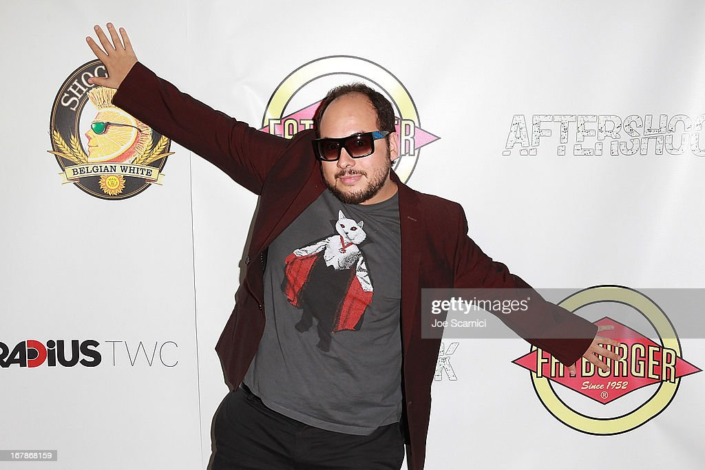 Director Nicolas Lopez arrives at the 'AFTERSHOCK' premiere presented by Dimension Films and RADiUS-TWC in partnership with Fatburger at on May 1, 2013 in Los Angeles, California.