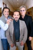 Director Nicolas Vanier actor who played Sebastien in the serie 'Belle et Sebastien' from 1965 Mehdi El Glaoui and actor Tcheky Karyo present the...