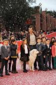 Director Nicolas Vanier and children attend 'Belle Et Sebastien' Premiere during The 8th Rome Film Festival on November 9 2013 in Rome Italy