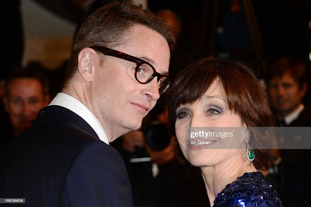Director Nicolas Winding Refn and actress Kristin Scott Thomas attend the 'Only God Forgives' Premiere during the 66th Annual Cannes Film Festival at Palais des Festivals on May 22, 2013 in Cannes, France.