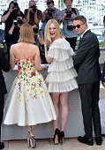 Director Nicolas Winding Refn and Elle Fanning attend 'The Neon Demon' Photocall during the 69th annual Cannes Film Festival at the Palais des...