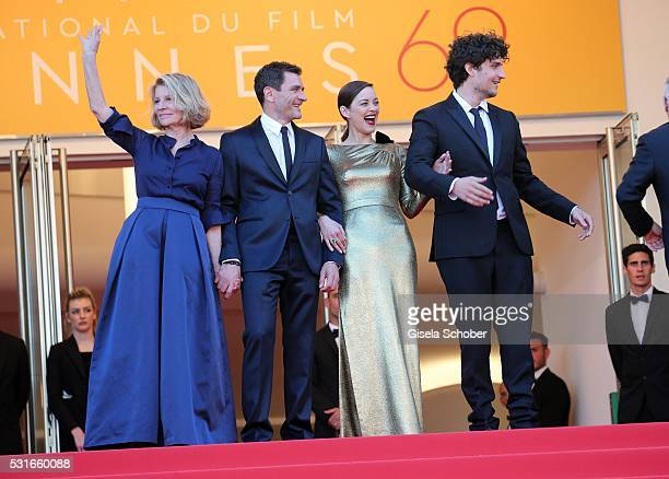 CANNES FRANCE MAY 15 Director Nicole Garcia actor Alex Brendemuehl actress Marion Cotillard and actor Louis Garrel attend the 'From The Land Of The...