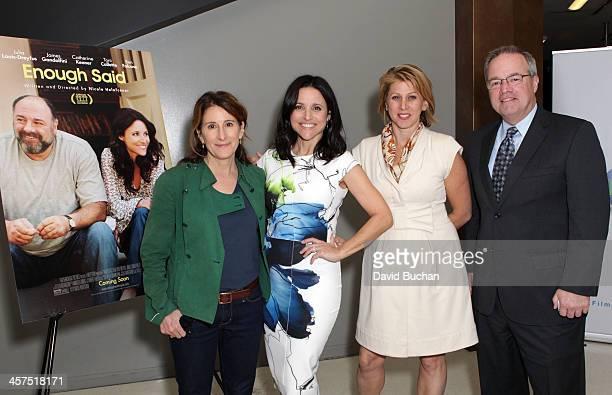 Director Nicole Holofcener actress Julia LouisDreyfus moderator Sharon Waxman and film LA president Paul Audley attend TheWrap's Awards Foreign...