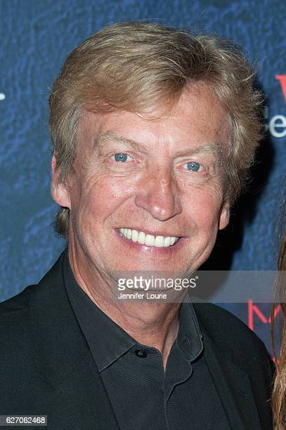 Director Nigel Lythgoe arrives at the Opening Night of 'Merrily We Roll Along' at the Wallis Annenberg Center for the Performing Arts on November 30...
