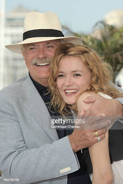 Director Nikita Mikhalkov and actress Nadezhda Mihalkova attend 'The Exodus Burnt By The Sun 2' Photo Call held at the Palais des Festivals during...