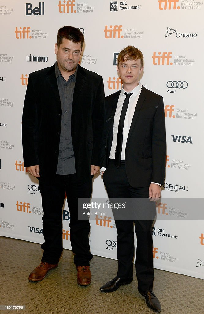 Director Nimród Antal and actor <a gi-track='captionPersonalityLinkClicked' href=/galleries/search?phrase=Dane+DeHaan&family=editorial&specificpeople=6890481 ng-click='$event.stopPropagation()'>Dane DeHaan</a> arrive at the 'Metallica: Through The Never' Premiere during 2013 Toronto International Film Festival at Scotiabank Theatre on September 9, 2013 in Toronto, Canada.