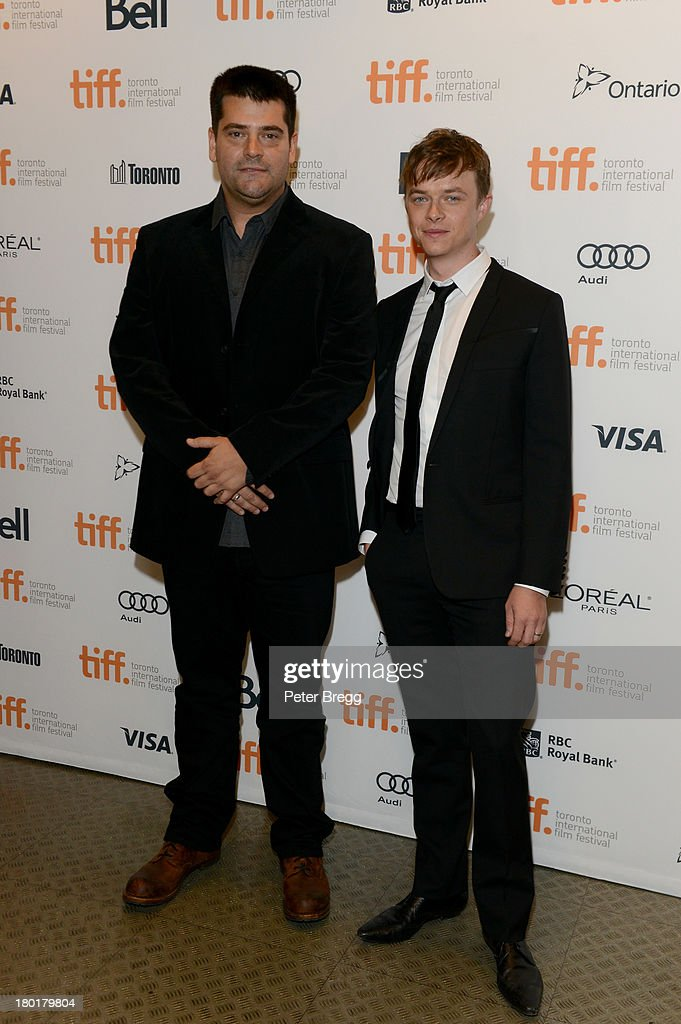 Director Nimród Antal and actor Dane DeHaan arrive at the 'Metallica Through The Never' Premiere during 2013 Toronto International Film Festival at...