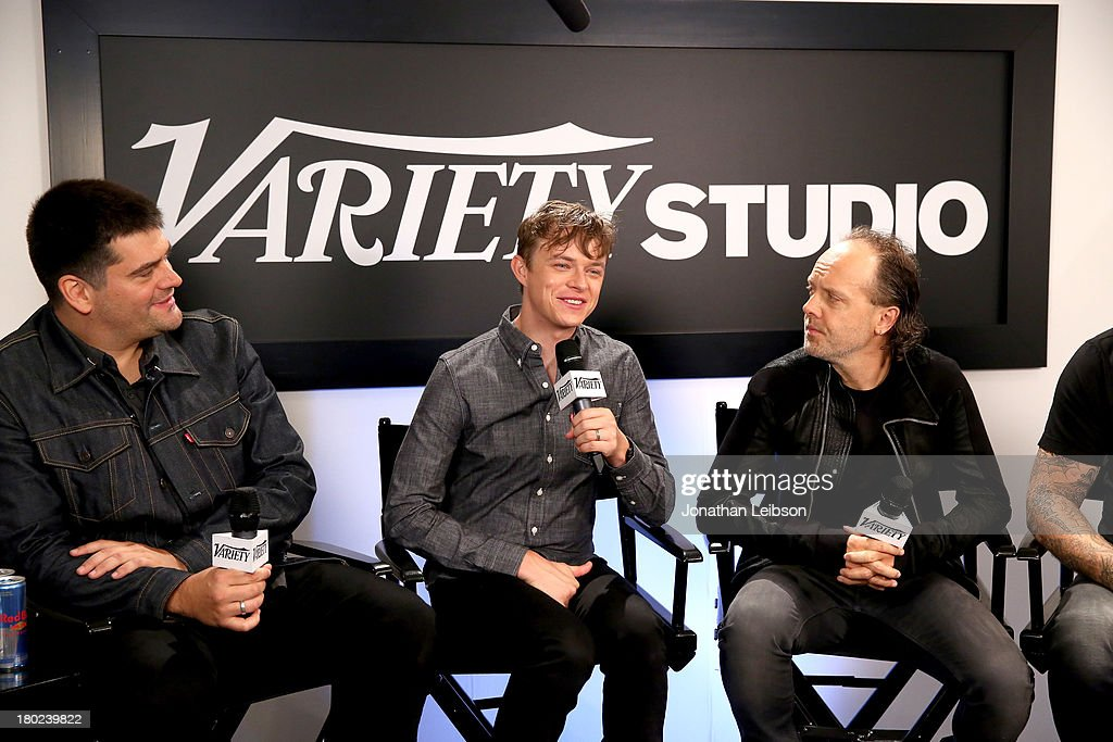 Director Nimrod Antal actor Dane DeHaan and musician Lars Ulrich attend the Variety Studio presented by Moroccanoil at Holt Renfrew during the 2013...