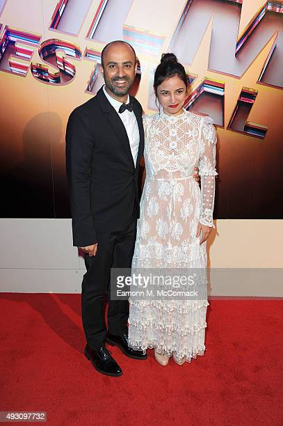 Director Nitzan Gilady and actress Moran Rosenblatt arrive at Banqueting House for the BFI London Film Festival Awards on October 17 2015 in London...