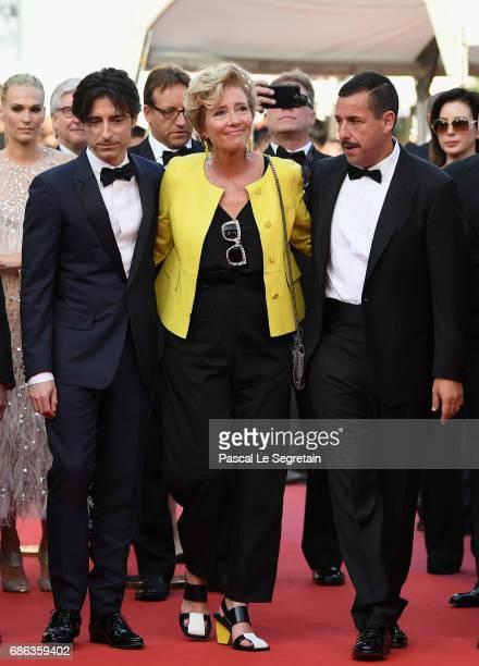 Director Noah Baumbach actress Emma Thompson and actor Adam Sandler of 'The Meyerowitz Stories' attend the 'The Meyerowitz Stories' screening during...