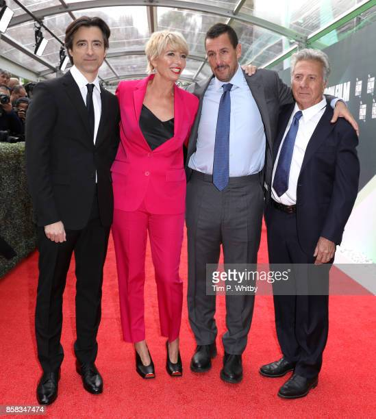 Director Noah Baumbach and actors Emma Thompson Adam Sandler and Dustin Hoffman attend the Laugh Gala and UK Premiere of 'The Meyerowitz Stories'...