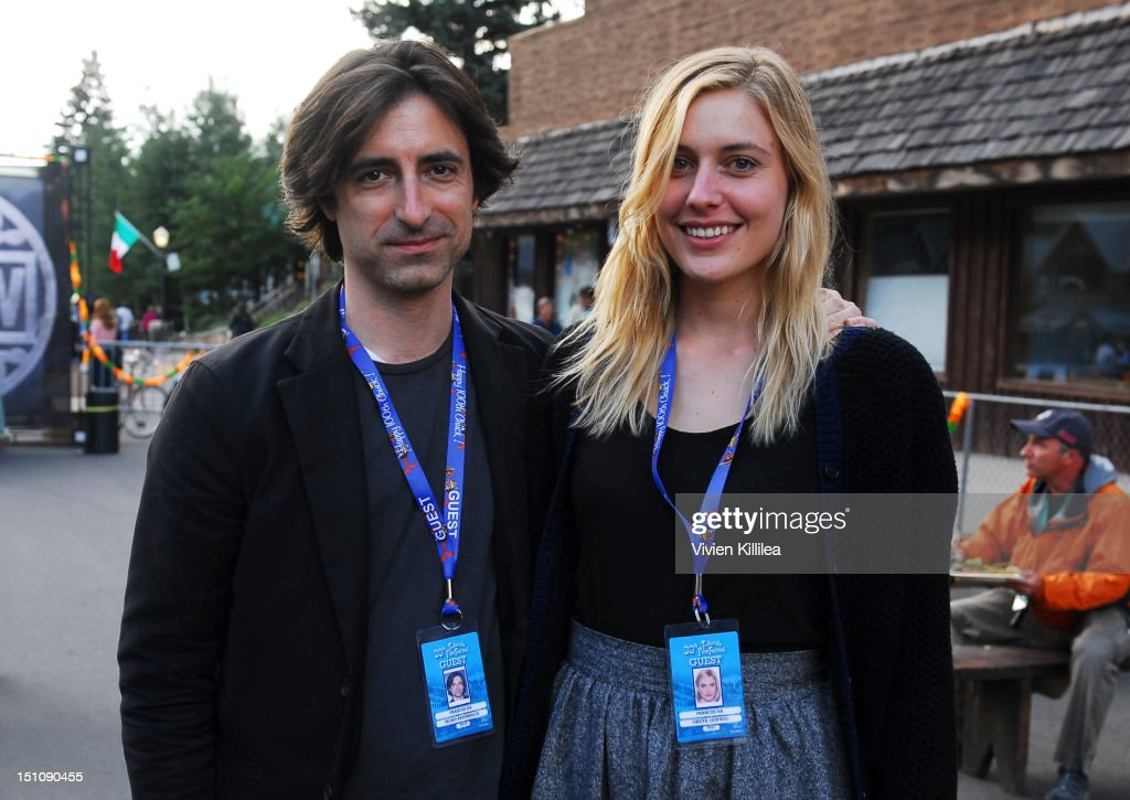 Director <a gi-track='captionPersonalityLinkClicked' href=/galleries/search?phrase=Noah+Baumbach&family=editorial&specificpeople=841432 ng-click='$event.stopPropagation()'>Noah Baumbach</a> and actress <a gi-track='captionPersonalityLinkClicked' href=/galleries/search?phrase=Greta+Gerwig&family=editorial&specificpeople=4249808 ng-click='$event.stopPropagation()'>Greta Gerwig</a> attend the Opening Night Feed at the 2012 Telluride Film Festival - Day 1 on August 31, 2012 in Telluride, Colorado.
