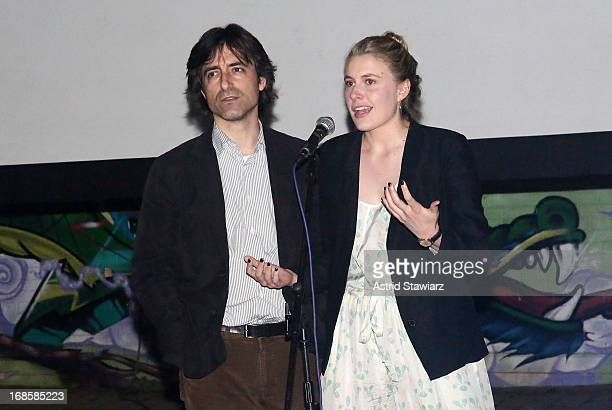 Director Noah Baumbach and actress Greta Gerwig attend the screening of 'Frances Ha' during the 17th annual Rooftop Films Summer Series at New Design...