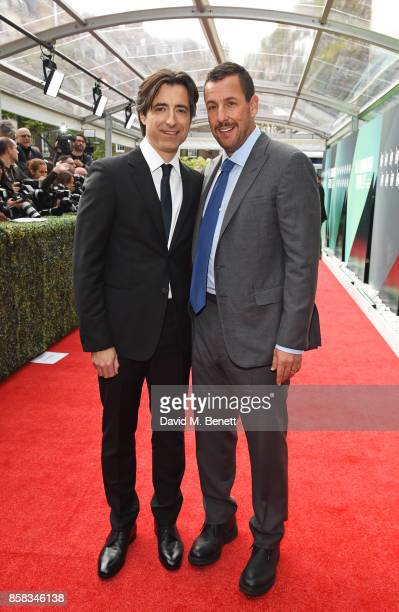 Director Noah Baumbach and Adam Sandler attend the Laugh Gala UK Premiere of 'The Meyerowitz Stories' during the 61st BFI London Film Festival at...