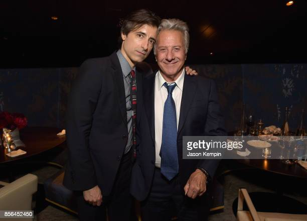 Director Noah Baumbach and Dustin Hoffman attend the New York Film Festival screening of The Meyerowitz Stories at Alice Tully Hall on October 1 2017...