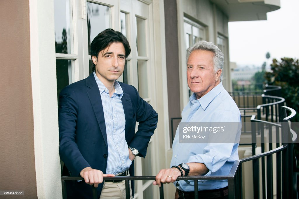 Director Noah Baumbach and Dustin Hoffman of the film The Meyerowitz Stories' are photographed for Los Angeles Times on September 19, 2017 in Los Angeles, California. PUBLISHED IMAGE.