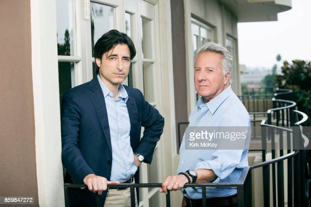 Director Noah Baumbach and Dustin Hoffman of the film The Meyerowitz Stories' are photographed for Los Angeles Times on September 19 2017 in Los...