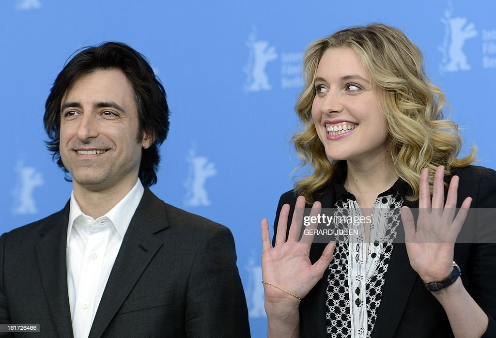 US director Noah Baumbach and US actress Greta Gerwig pose during a photocall for the film 'Frances Ha' presented in the Panorama Special category of the 63rd Berlin International Film Festival in Berlin on February 14, 2013.