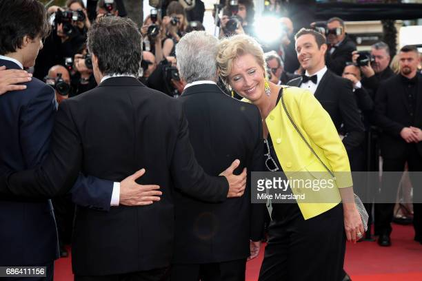 Director Noah Baumbach Ben Stiller Dustin Hoffman and Emma Thompson attend the 'The Meyerowitz Stories' screening during the 70th annual Cannes Film...