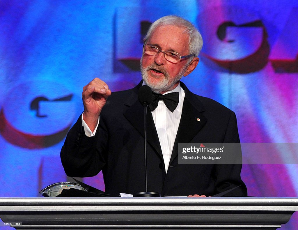 Director Norman Jewison the Lifetime Achievement Award onstage during the 62nd Annual Directors Guild Of America Awards at the Hyatt Regency Century Plaza on January 30, 2010 in Century City, California.