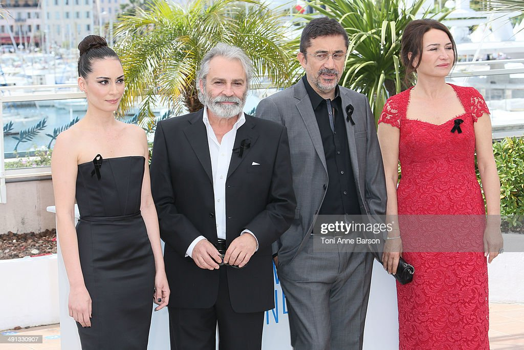 Director Nuri Bilge Ceylan, actress Melisa Sozen, actress Demet Akbag and actor Haluk Bilginer attend the 'Winter Sleep' photocall at the 67th Annual Cannes Film Festival on May 16, 2014 in Cannes, France.