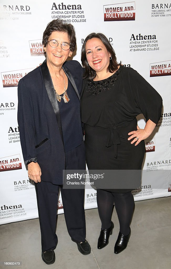 Director of Barnard College's Athena Center of Leadership Studies, Kathryn Kolbert and co-founder of Women & Hollywood, Melissa Silverstein attend The 2013 Athena Film Festival Opening Night Reception at The Diana Center At Barnard College on February 7, 2013 in New York City.
