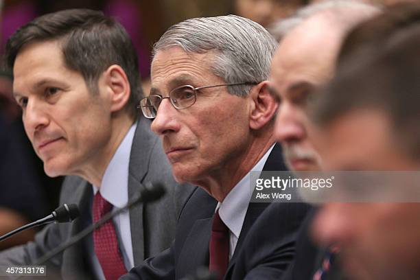 Director of Centers for Disease Control and Prevention Dr Thomas Frieden and Director of National Institute of Allergy and Infectious Diseases Dr...
