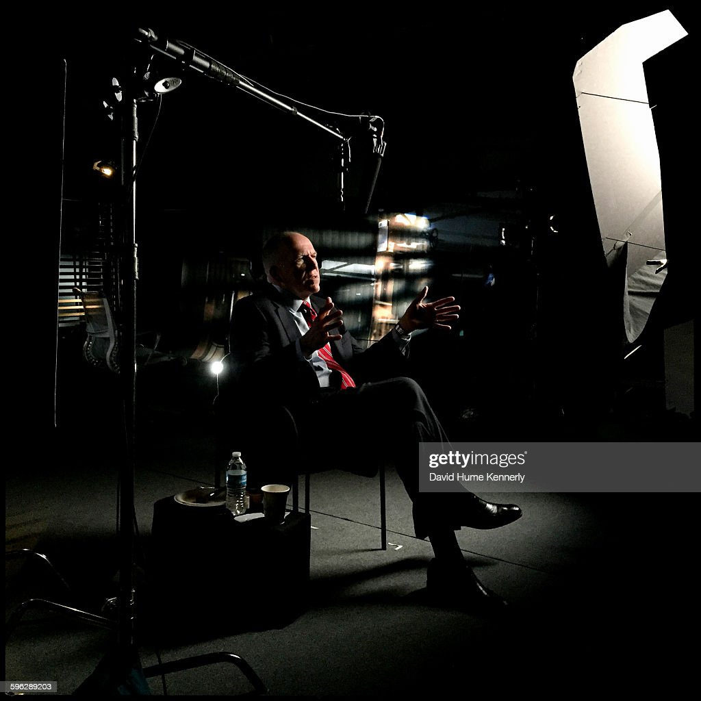 Director of Central Intelligence Agency John Brennan interviewed for 'The Spymasters,' a CBS/Showtime documentary on CIA directors. With producers Chris Whipple, Gedeon and Jules Naudet, Washington, DC, May 16, 2015.