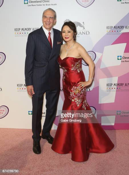 Director of Cleveland Clinic Lou Ruvo Center for Brain Health Dr Jeffrey Cummings and his wife Dr Kate Zhong attend Keep Memory Alive's 21st annual...